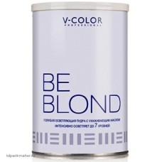 Осветляющая пудра V-COLOR BE BLOND ГОЛУБАЯ 500гр