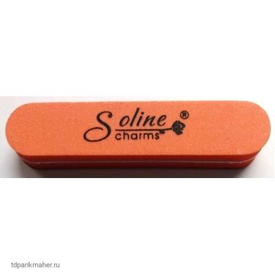 Пилка-баф мини (шлифовщик) Soline Charms овальная, 100/180