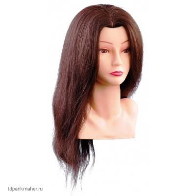 Голова Comair 7000798 Bust Ellen шатенка, 40 см. c натуральными волосами