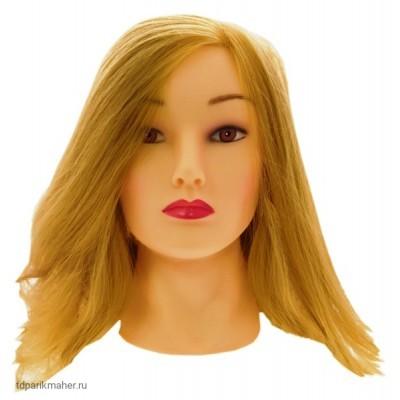 """Голова из протеиновых волос (нейлон) Sibel """"блондинка"""", длина волос 35-45 см."""