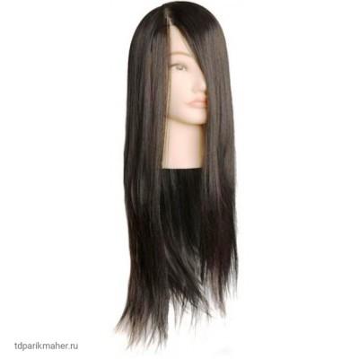 Голова учебная Harizma h10821 брюнетка нейлон, длина волос 50-60см.