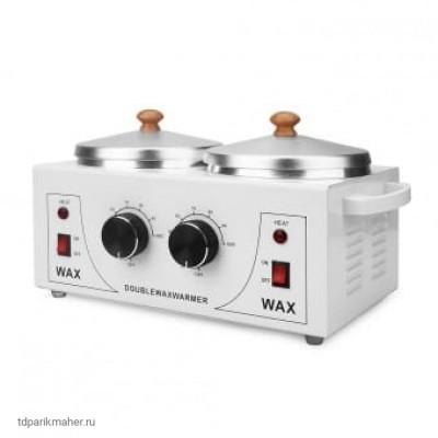 Двойной воскоплав с терморегулятором Double Wax Warmer, 2x400 мл