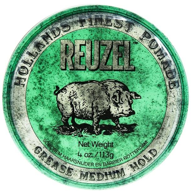 Купить REUZEL Grease Medium Hold - Помада для укладки волос зеленая средней фиксации